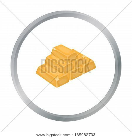Golden bars icon in cartoon style isolated on white background. USA country symbol vector illustration.