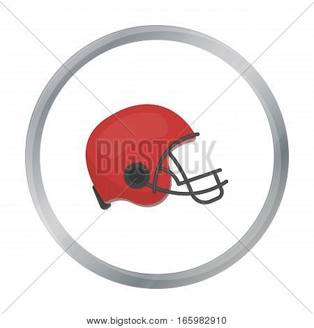 American football helmet icon in cartoon style isolated on white background. USA country symbol vector illustration.