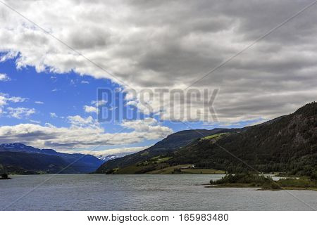 This is lake in the province of Oppland Norway.
