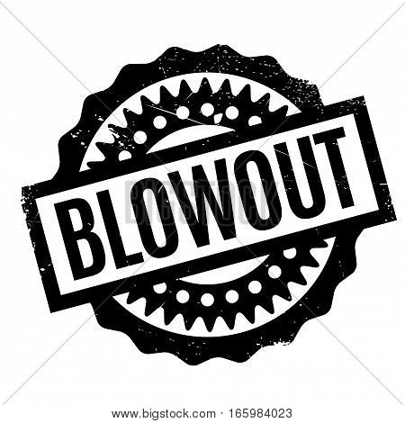 Blowout rubber stamp. Grunge design with dust scratches. Effects can be easily removed for a clean, crisp look. Color is easily changed.