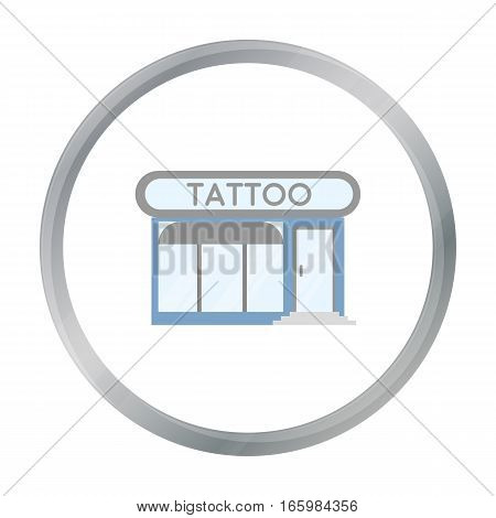 Tattoo salon building parlor icon cartoon. Single tattoo icon from the big studio cartoon. - stock vector