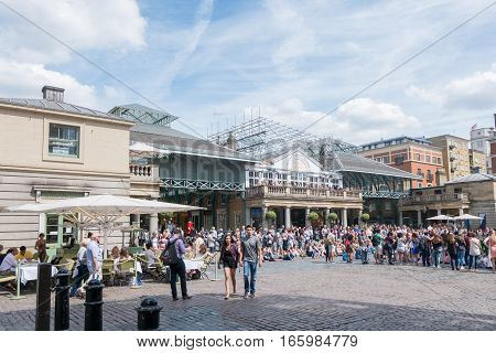 London, United Kingdom - July 25, 2016 : People Walking Around Covent Garden