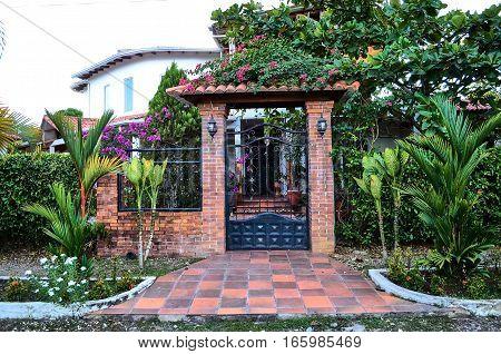 VILLAVICENCIO META COLOMBIA - FEBRUARY 2 2014: Beautiful and picturesque residence in Villavicencio.