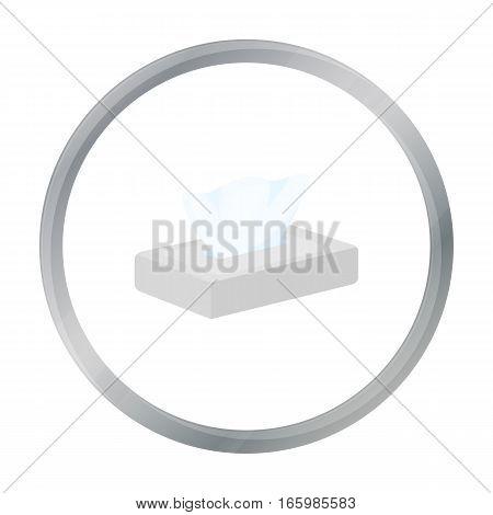 Napkin icon cartoon. Single tattoo icon from the big studio cartoon. - stock vector
