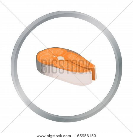 Steak icon in cartoon style isolated on white background. Sushi symbol stock vector illustration. - stock vector