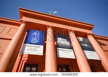 Buenos Aires, Argentina - Nov 22, 2016: National Museum of Fine Arts MNBA is an Argentine art museum in Buenos Aires, located in the Recoleta section of the city.