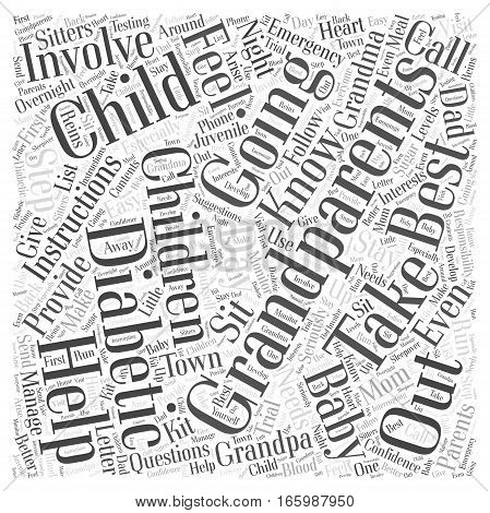 Help from Grandparents with Diabetic Children Word Cloud Concept