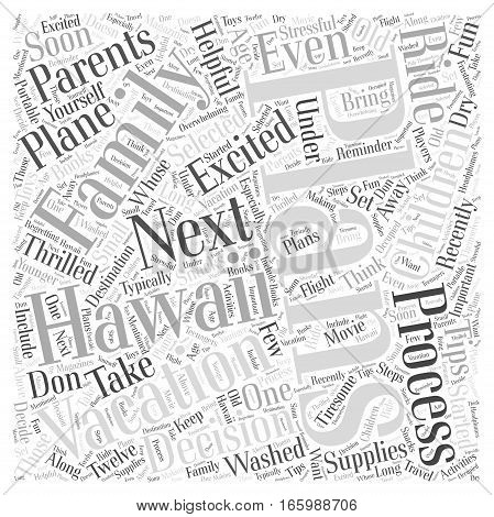 Helpful Tips for Planning a Hawaii Family Vacation Word Cloud Concept