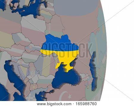Ukraine With Its Flag