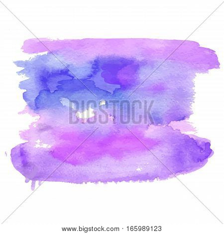 Vector watercolor brush background texture illustration. Backstage for lettering, sign numbers business banners poster prints, web design, page advertisement. pink purple colored element