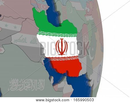 Iran With Its Flag