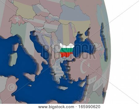Bulgaria With Its Flag