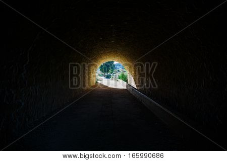 A light in the end of a tunnel