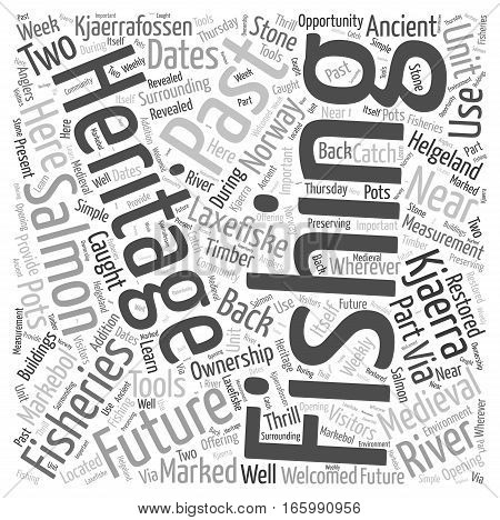 heritage fishing fishing in the past for the future Word Cloud Concept