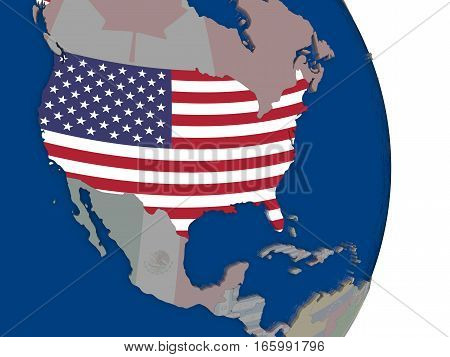 Usa With Its Flag
