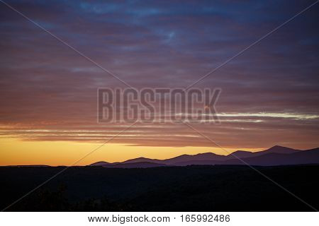 Picturesque landscape of Spain in morning sunrise