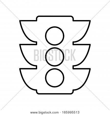 semaphore light traffic icon vector illustration design