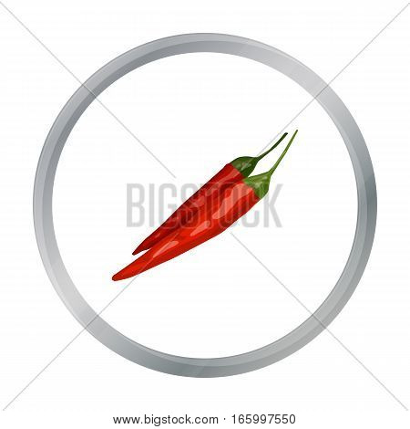 Mexican chili peppers icon in cartoon style isolated on white background. Mexico country symbol vector illustration. - stock vector