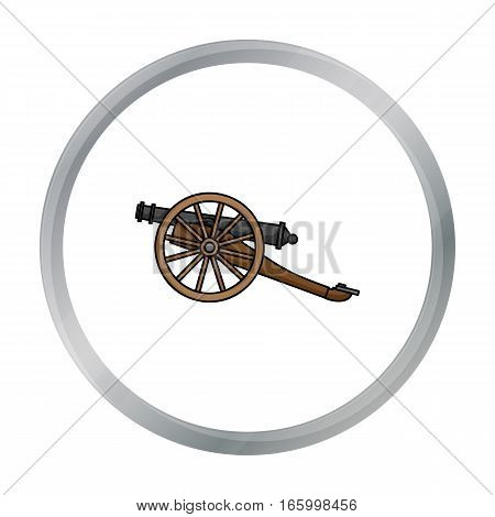 Cannon icon in cartoon style isolated on white background. Museum symbol vector illustration. - stock vector