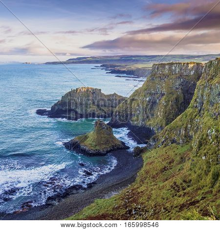 Scenic views along the Causeway Coast, Northern Ireland