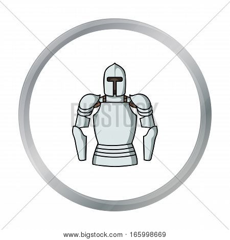 Plate armor icon in cartoon style isolated on white background. Museum symbol vector illustration. - stock vector