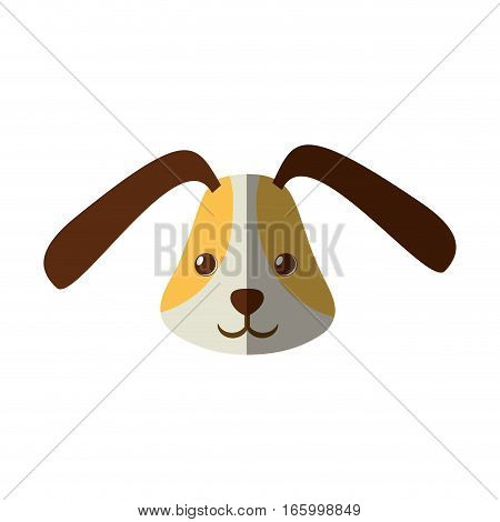 cute head doggy funny expression shadow vector illustration eps 10