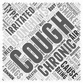 bronchitis chronic cough symptom Word Cloud Concept poster