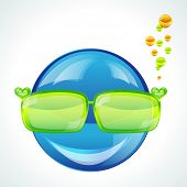 Avatar in green sunglasses poster