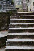 Fort Worden old artillery bunker moss covered steps poster