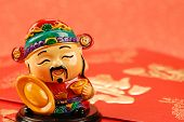 Chinese new year decoration--Chinese traditional mammon figure  for celebration of the lunar new year. poster