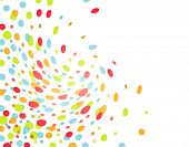 white background with blast of colorful confetti poster