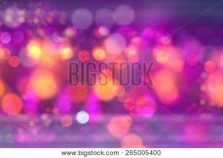 Bokeh Of Bright Magic Festive Lights Background, Holiday Night Light