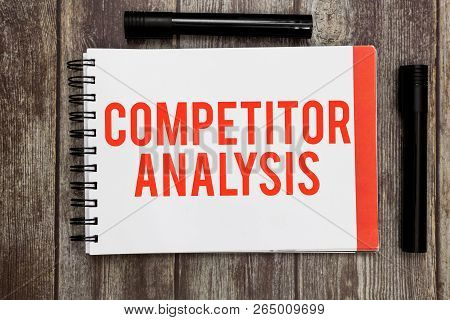 Word writing text Competitor Analysis. Business concept for Determine the Strength Weakness of Competitive Market poster