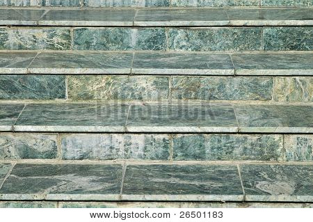 Stair Of Green Marble