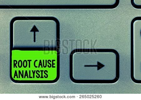 Word Writing Text Root Cause Analysis. Business Concept For Method Of Problem Solving Identify Fault