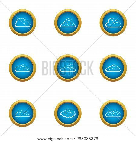 Mist Icons Set. Flat Set Of 9 Mist Vector Icons For Web Isolated On White Background