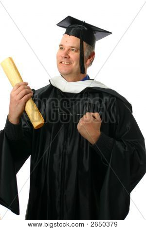 Professor Or Student Graduate With Degree