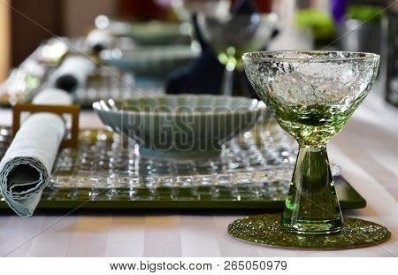 Glasswork On The Table Of The Room