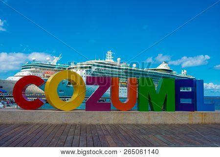 Cozumel Mexico Cruise Ship Port Colorful Bright
