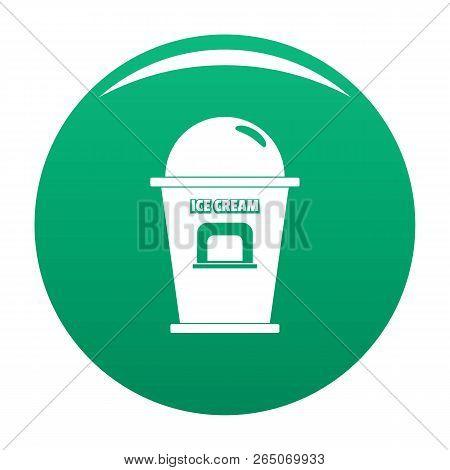 Ice Creme Trade Point Icon. Simple Illustration Of Ice Creme Trade Point Vector Icon For Any Design