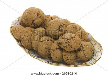 Brown Cookies With Raisins
