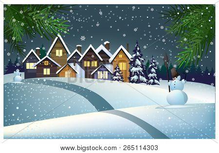 Marvelous Many Houses Snow On Vector Photo Free Trial Bigstock Interior Design Ideas Skatsoteloinfo