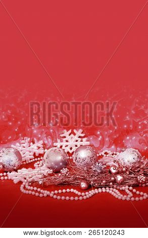 Christmas Decor For Design Xmas Cards, Banners, Pages And Site
