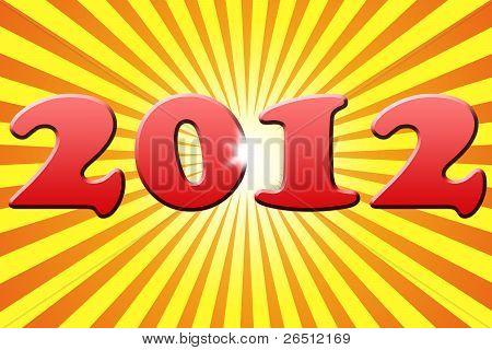 Stylized New Year 2012 Card Background