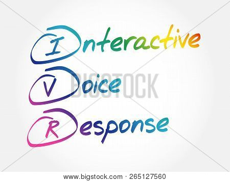Ivr - Interactive Voice Response, Acronym Business Concept