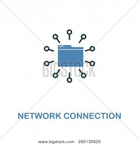 Network Connection Creative Icon In Two Colors. Premium Style Design From Web Development Icons Coll