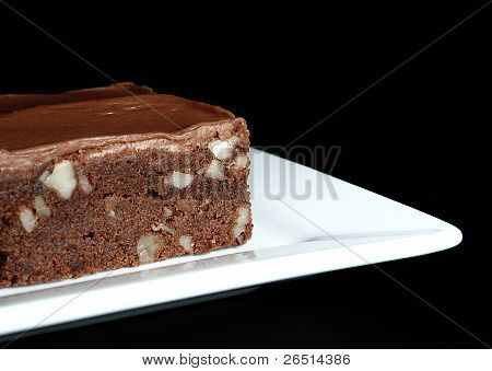 Fudge Brownie With Chocolate Icing
