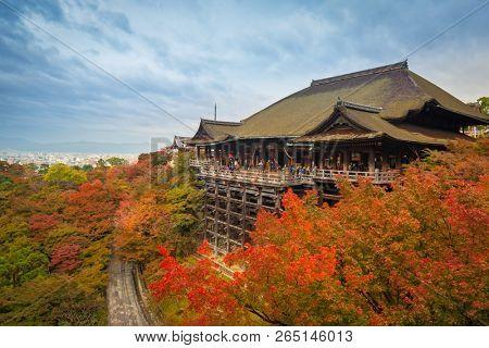 Kiyomizu-Dera temple in Kyoto during autumn season, Japan
