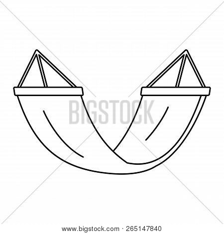 Rest Hammock Icon. Outline Rest Hammock Icon For Web Design Isolated On White Background
