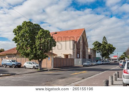 Goodwood, South Africa, August 14, 2018: A Street Scene With The Presbyterian Church In Goodwood In